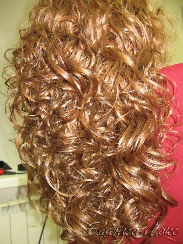 Как сделать мокрый эффект волос при химической завивки