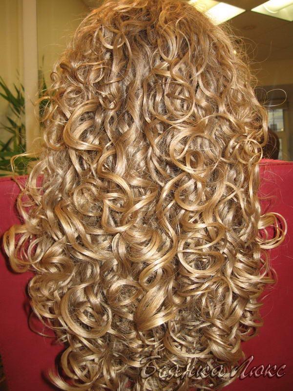 Сколько стоит хим завивка на средние волосы