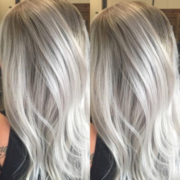 Фото цвета волос холодный блонд