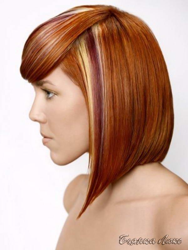 модные стрижки и прически для волос средней длины окрашивание